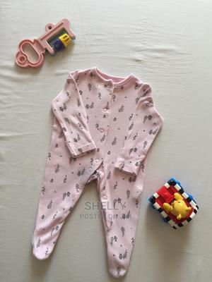 Baby Pink Romper With Black Prints | Children's Clothing for sale in Nairobi, Nairobi Central