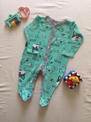 Turquoise Romper With Striped Details on the Neck | Children's Clothing for sale in Nairobi, Nairobi Central