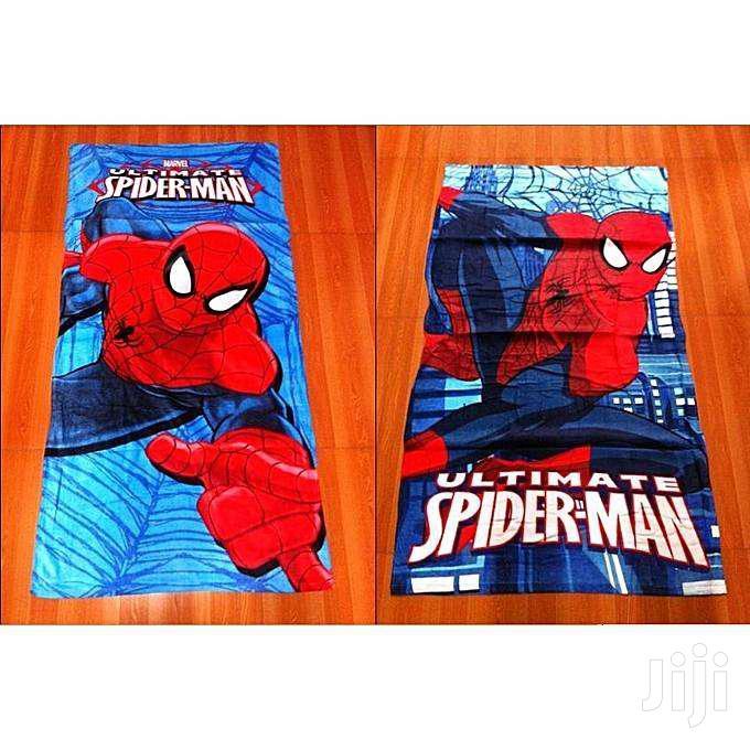 Batowel For Kids With Cartoon Prints- Spider Man