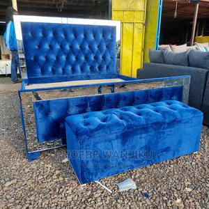 5 by 6 Modern Bed+ Ottoman   Furniture for sale in Nairobi, Kahawa