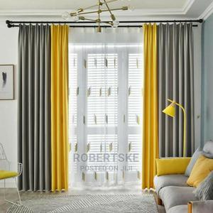 Light Grey and Yellow Linen Curtains | Home Accessories for sale in Nairobi, Nairobi Central