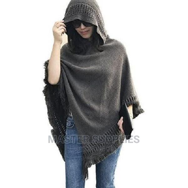 Hooded Poncho Available in Black.Maroon.Grey.White
