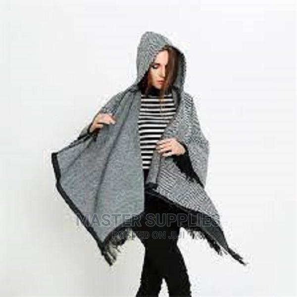 Hooded Poncho Available in Black.Maroon.Grey.White | Clothing for sale in Nairobi Central, Nairobi, Kenya