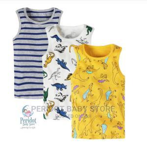3pcs Boys Quality Pure Cotton Vests / Tank Tops | Children's Clothing for sale in Kajiado, Ongata Rongai