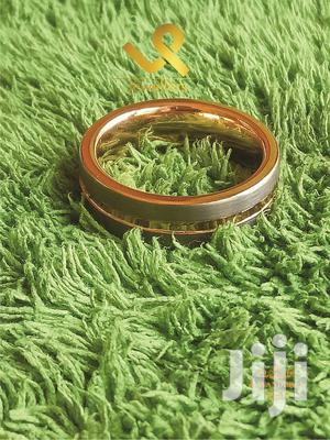 Genuine Tungsten Carbide Wedding Band Ring With Gold Finish Groove   Wedding Wear & Accessories for sale in Nairobi, Nairobi Central
