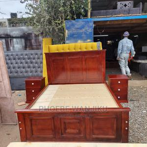 Mahogany 5 by 6 Bed +2 Side Drawers   Furniture for sale in Nairobi, Kahawa