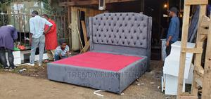 6*6 King Size Box Bed With Buttoned Headboard   Furniture for sale in Nairobi, Kahawa