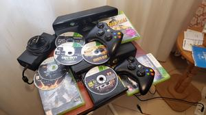 Xbox 360 Slim With Kinect, 2 Wireless Controllers 5 Games   Video Game Consoles for sale in Nairobi, Kasarani