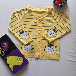 Yellow Button Down Sweater | Children's Clothing for sale in Nairobi, Utawala