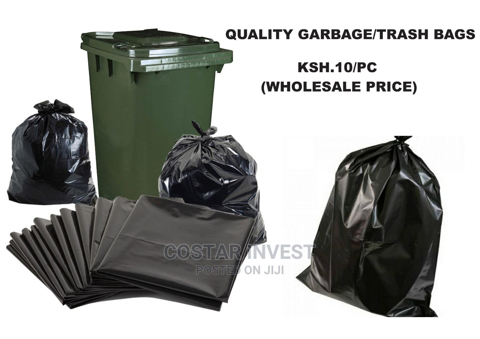 50 PCS (30X36 Inches) Garbage/Trash Bags-heavy GAUGE LARGE