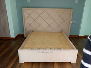 5*6 Classic Bed With Tufted Extended Headboard   Furniture for sale in Nairobi, Kahawa