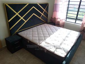 6*6 King Size Tufted Bed, Extended Headboard Sidedrawers   Furniture for sale in Nairobi, Kahawa
