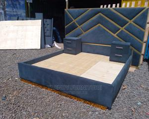6*6 Tufted Bed With Tufted Extended Headboard Sidedrawers   Furniture for sale in Nairobi, Kahawa