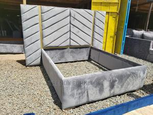 5*6 Bed With Tufted Extended Headboard Elegant Designs   Furniture for sale in Nairobi, Kahawa