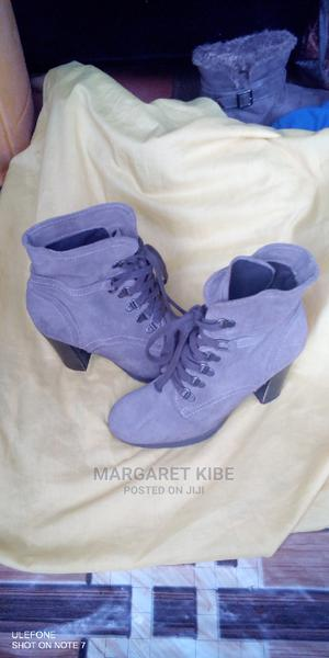 Grey Wetlook Suede Ankle Boots   Shoes for sale in Nairobi, Dagoretti