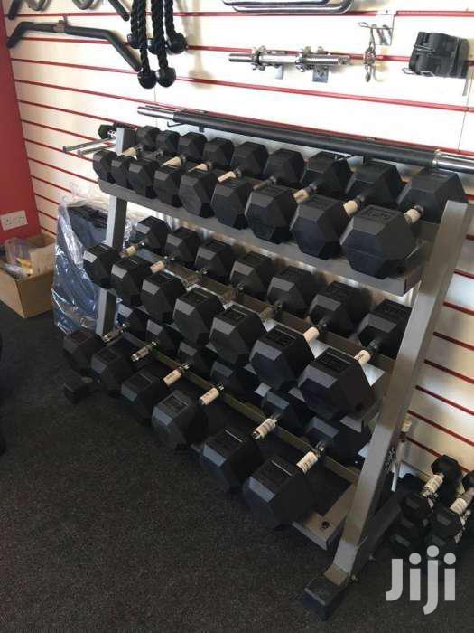 Archive: Gym Rubber Hexagonal Dumbells Dumbbells