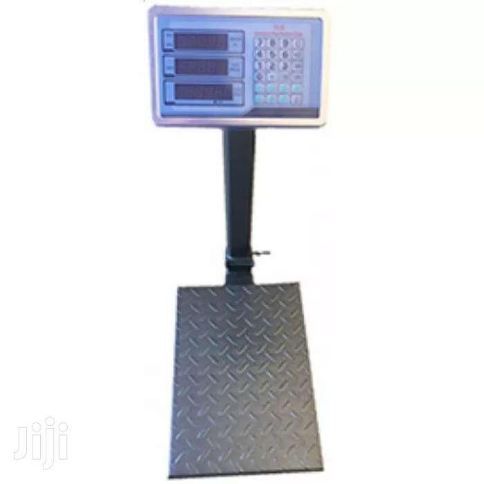 TCS Series Checkered Steel 100kg 300kg Digital Platform Weighing Scale