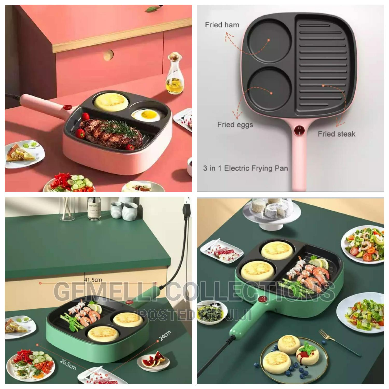 New 1 Non Stick Multi function Electric Frying Pan & Egg Boiler/Steamer