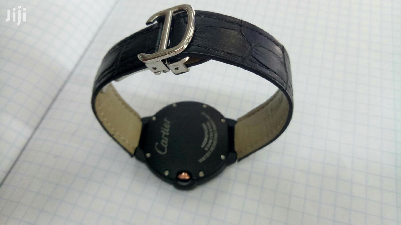 Archive: Black Cartier Quality Timepiece