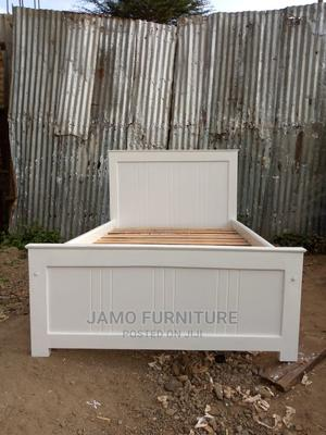 New 4 by 6 White Headboard Bed   Furniture for sale in Kajiado, Ongata Rongai