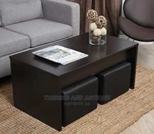 Coffee Table Minus Leather Stools   Furniture for sale in Nairobi, Kasarani