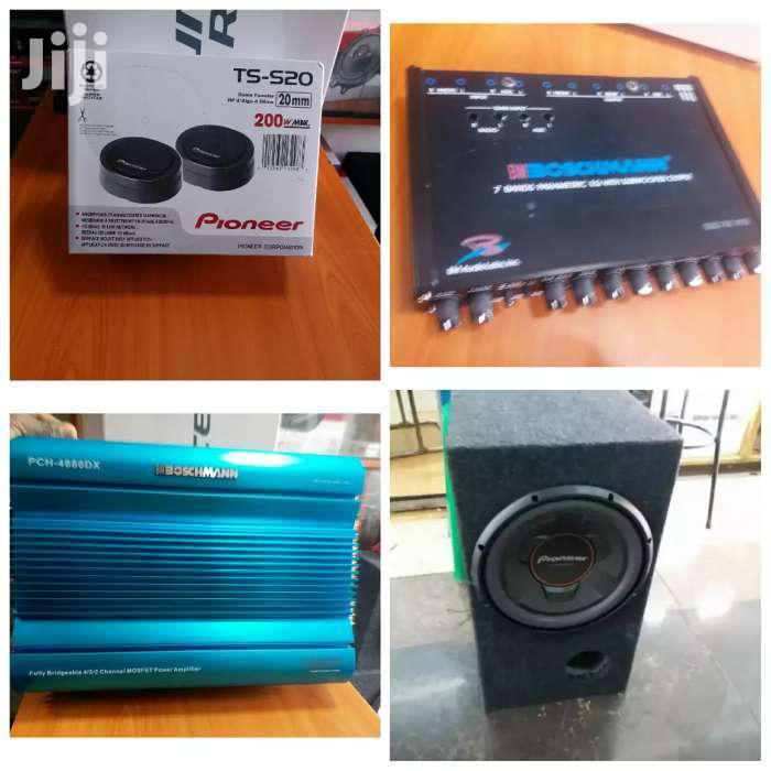 1300 Watts Car Setup With Amp Woofer Tweeters Equalizer