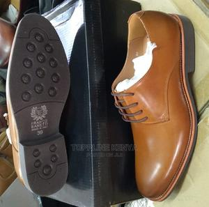 Brown Franco Bannetti Laced Officials Premium Leather Shoe | Shoes for sale in Nairobi, Nairobi Central