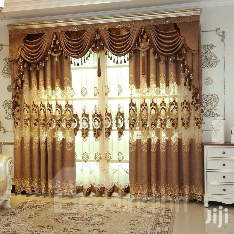 Golden Sheer Curtains