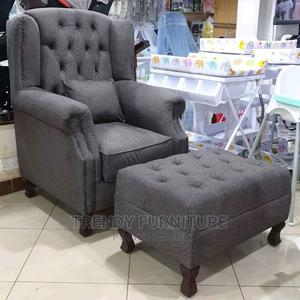 Wingback Chair With Footpuff Bestseller Designs | Furniture for sale in Nairobi, Kahawa
