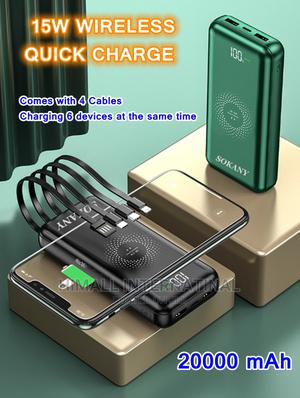 SOKANY 20000mah 15W Wireless Powerbank Charger | Accessories for Mobile Phones & Tablets for sale in Nairobi, Nairobi Central