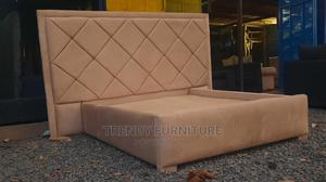 5*6 Upholstered Luxury Bed Extended Headboard Bestseller   Furniture for sale in Nairobi, Kahawa