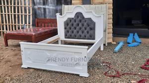 5*6 Mahogany Bed With Tufted Headboard Perfect Finishing   Furniture for sale in Nairobi, Kahawa