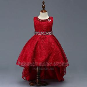 Elegant High-Low Quality Girls Event Dress-Maroon | Children's Clothing for sale in Kajiado, Ongata Rongai