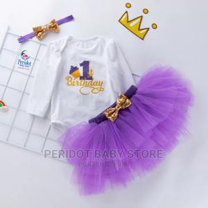 Quality Girls Birthday Tutu Set /Milestones Outfit | Children's Clothing for sale in Kajiado, Ongata Rongai