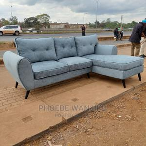 L Shape 5 Seater+ a Free Footrest   Furniture for sale in Nairobi, Kahawa