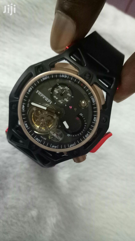 Mechanical Hublot Ferrari Black And Red Watch | Watches for sale in Nairobi Central, Nairobi, Kenya