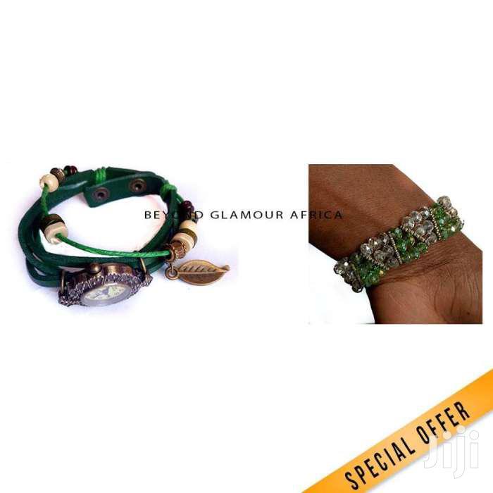Bracelet Watch + Bracelet Combo