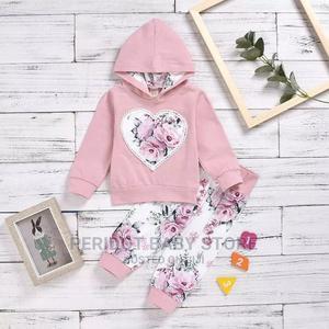 2pcs Baby Girl Semi-Warm Hood Top+ Pants | Children's Clothing for sale in Kajiado, Ongata Rongai