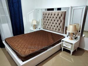5*6 Modern Bed, Tufted Headboard and Mirrored Sidedrawers   Furniture for sale in Nairobi, Kahawa