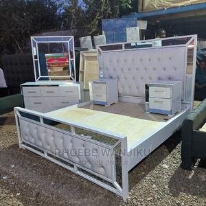 6 by 6 Modern Mirror Bed+Dressing Mirror +2 Side Drawers | Furniture for sale in Nairobi, Kahawa