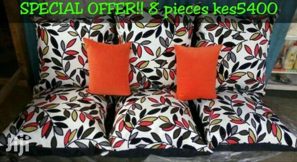 8 Piece Set Floor Cushions/Big Cushions/Puffs
