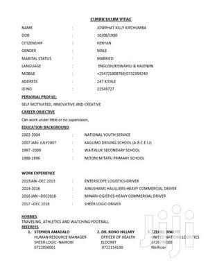 A.B.C.I.J Drivers Turnboys/Loaders   Driver CVs for sale in Trans-Nzoia, Kiminini