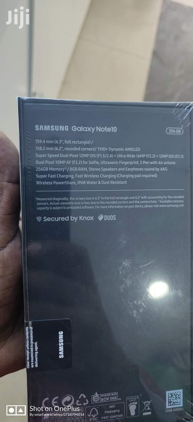 New Samsung Galaxy Note 10 256 GB Black | Mobile Phones for sale in Mvita, Mombasa, Kenya