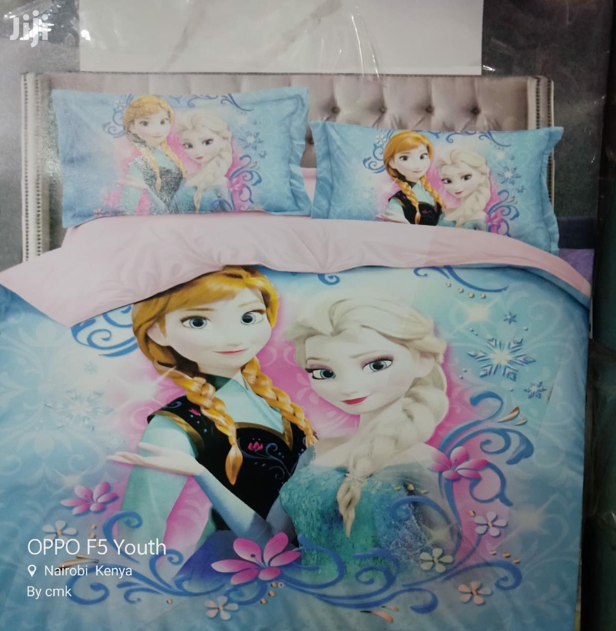 Cartoon Kids Duvets With A Matching Bed Sheet And A Pillow Case