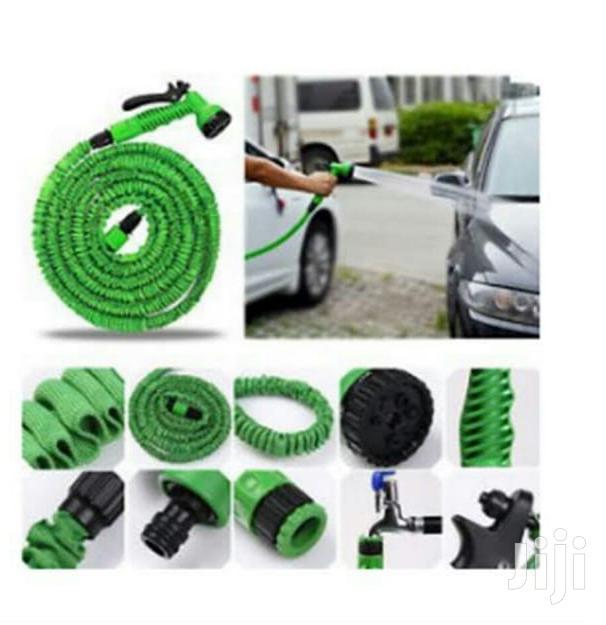 Flexible Expandable Pipe Garden Hose 7 Function Water Gun