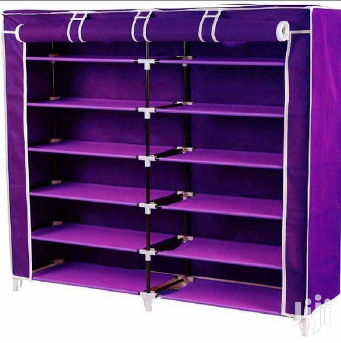 2 Columns Portable Shoe Racks
