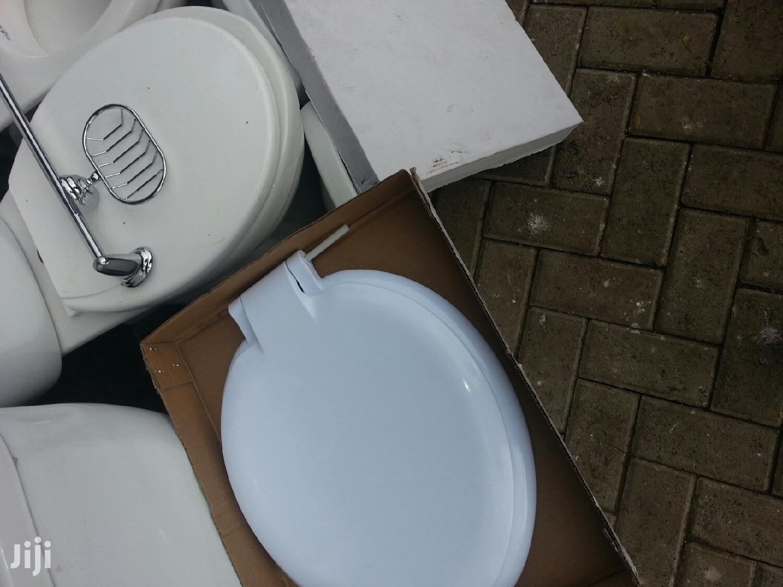 White Heavy Toilet Covers