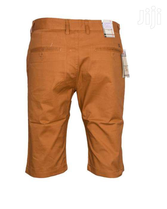 Men Soft Khaki Shorts-beige | Clothing for sale in Nairobi Central, Nairobi, Kenya
