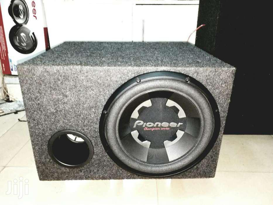 Pioneer 1400 Watts Double Coil Subwoofer In A Cabinet Deep Bass | Vehicle Parts & Accessories for sale in Nairobi Central, Nairobi, Kenya