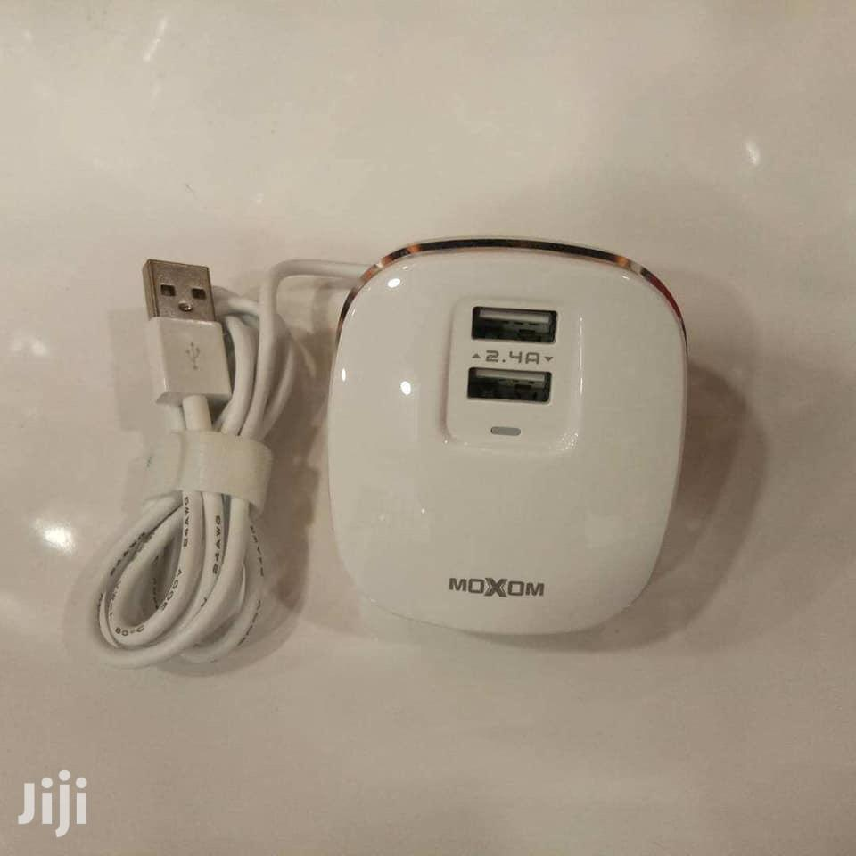 New Stock⚠ Moxom Kh-59 Charger🔌 ✅2 Usb(Auto-id 2.4A) ✅Ios,Tyce C.